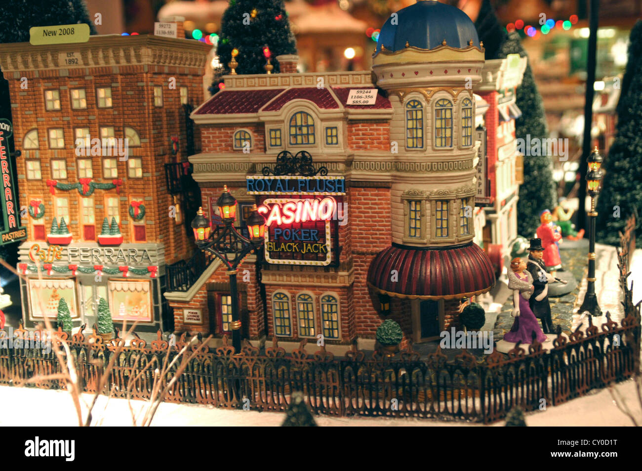 A model of Christmas city decoration at the Bonner's Christmas ...