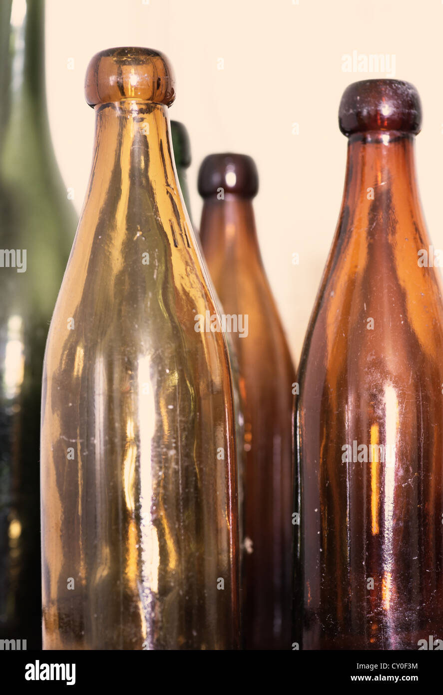 Used antique glass bottles used for traditional ale stock for Uses for old glass bottles