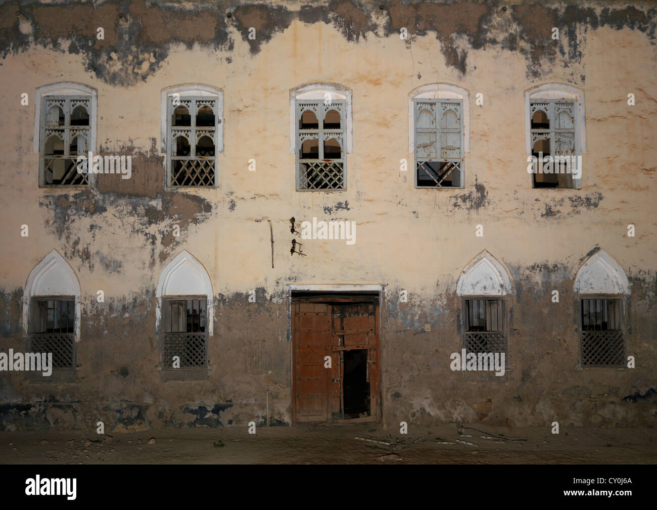 Old house full of white wooden windows salalah oman for House full of windows