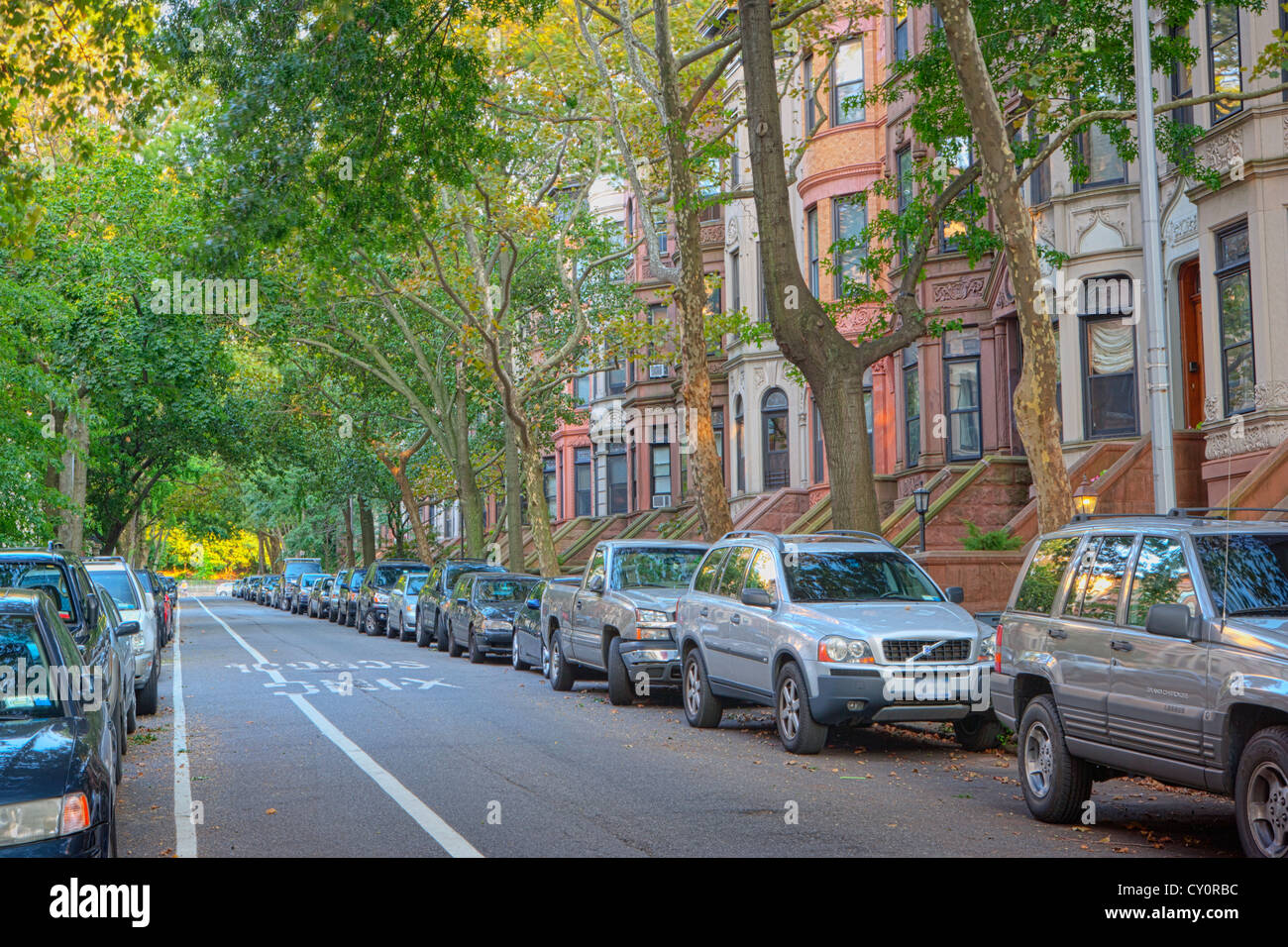 Brownstone row houses in the park slope neighborhood in for Buying a house in brooklyn