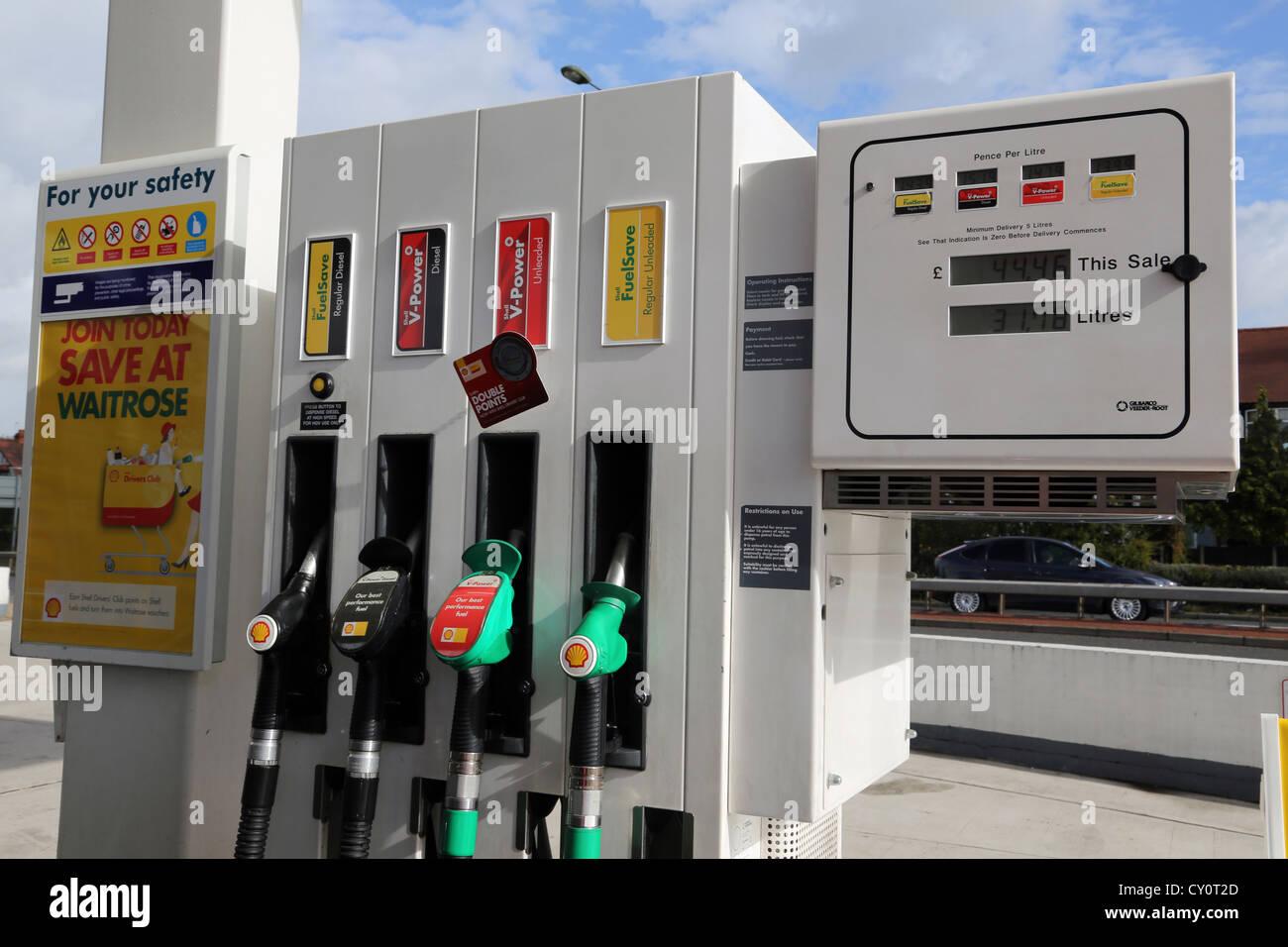 petrol pumps regular diesel diesel unleaded and regular unleaded stock photo royalty free. Black Bedroom Furniture Sets. Home Design Ideas