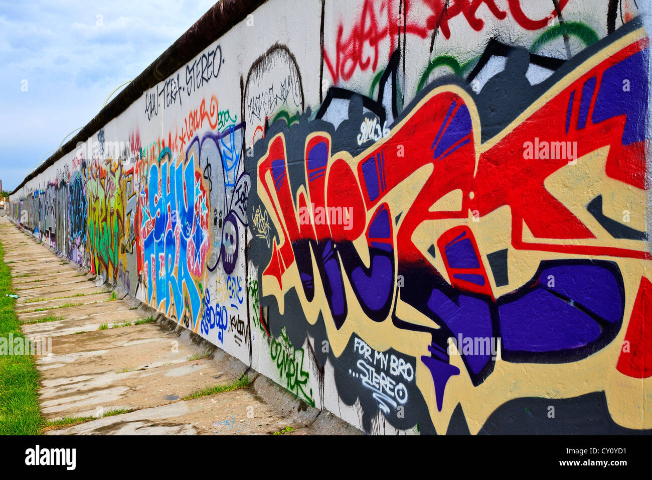 berlin wall berlin germany colourful decorated berlin wall along the stock photo royalty free. Black Bedroom Furniture Sets. Home Design Ideas