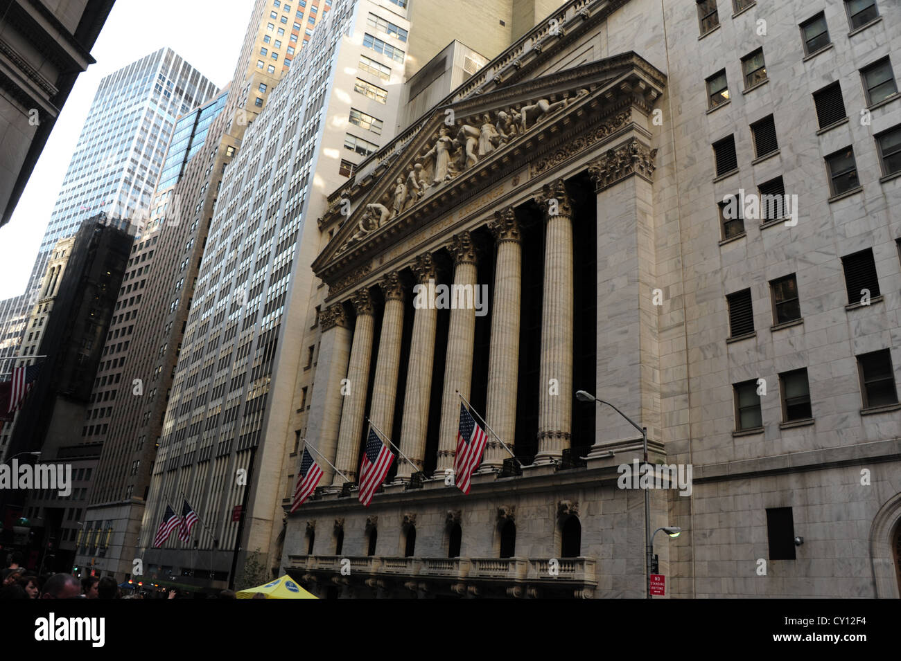 At the fitbit ipo celebration at new york stock exchange on thursday -  Oblique View Neo Classical New York Stock Exchange And Surrounding Skyscrapers Broad Street At