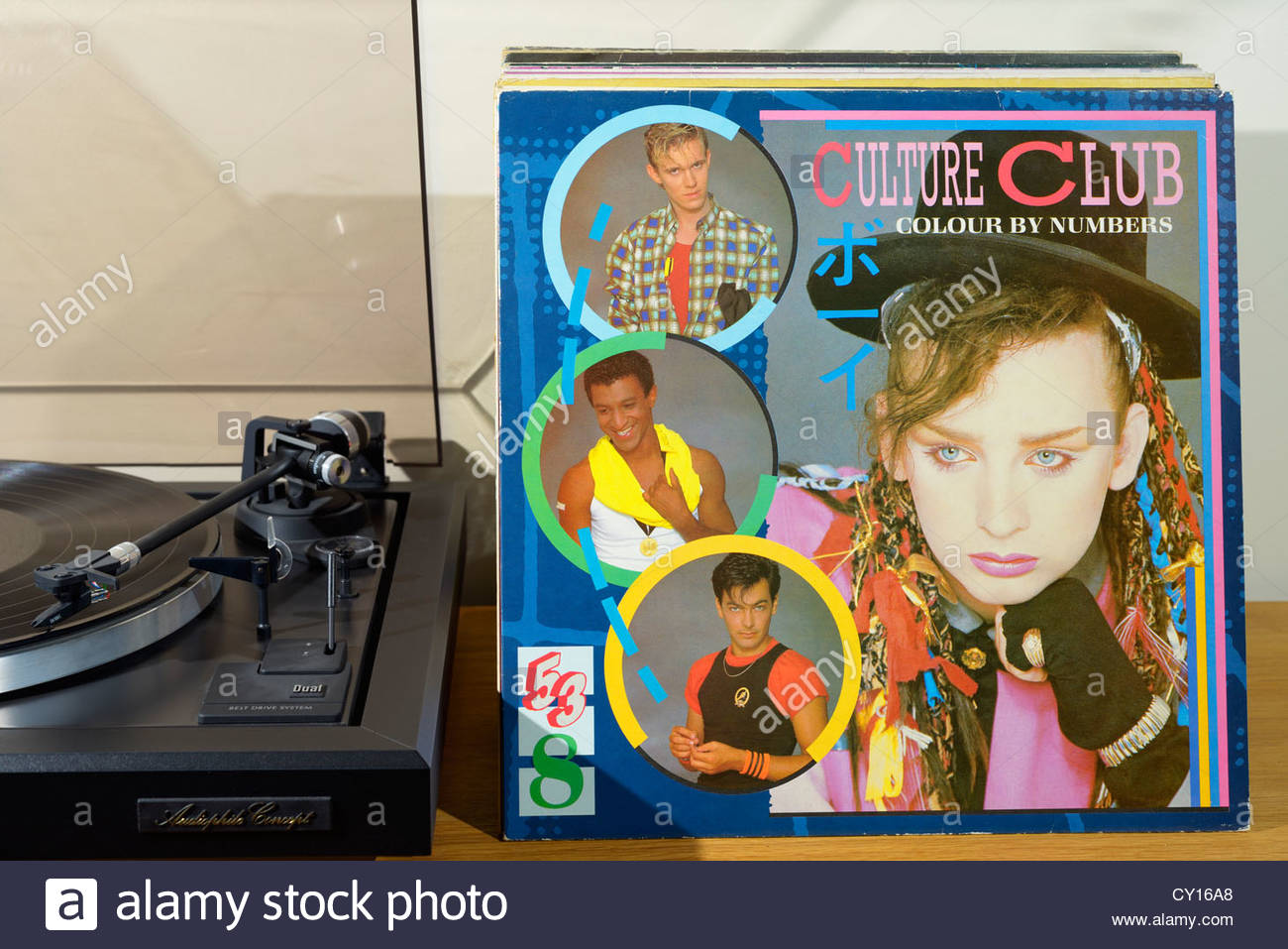 Record Player And Culture Club 2nd Album Colour By Numbers