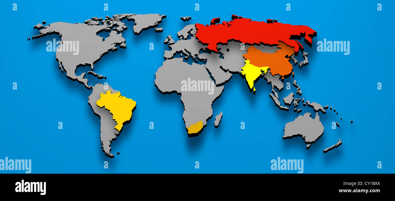 3d illustration political map of brics brazil china russia india 3d illustration political map of brics brazil china russia india south africa gumiabroncs Gallery