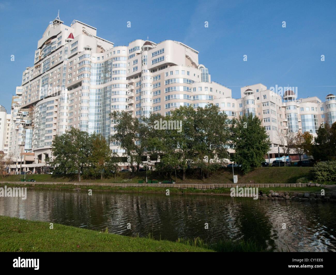 modern architecture minsk belarus eastern europe stock