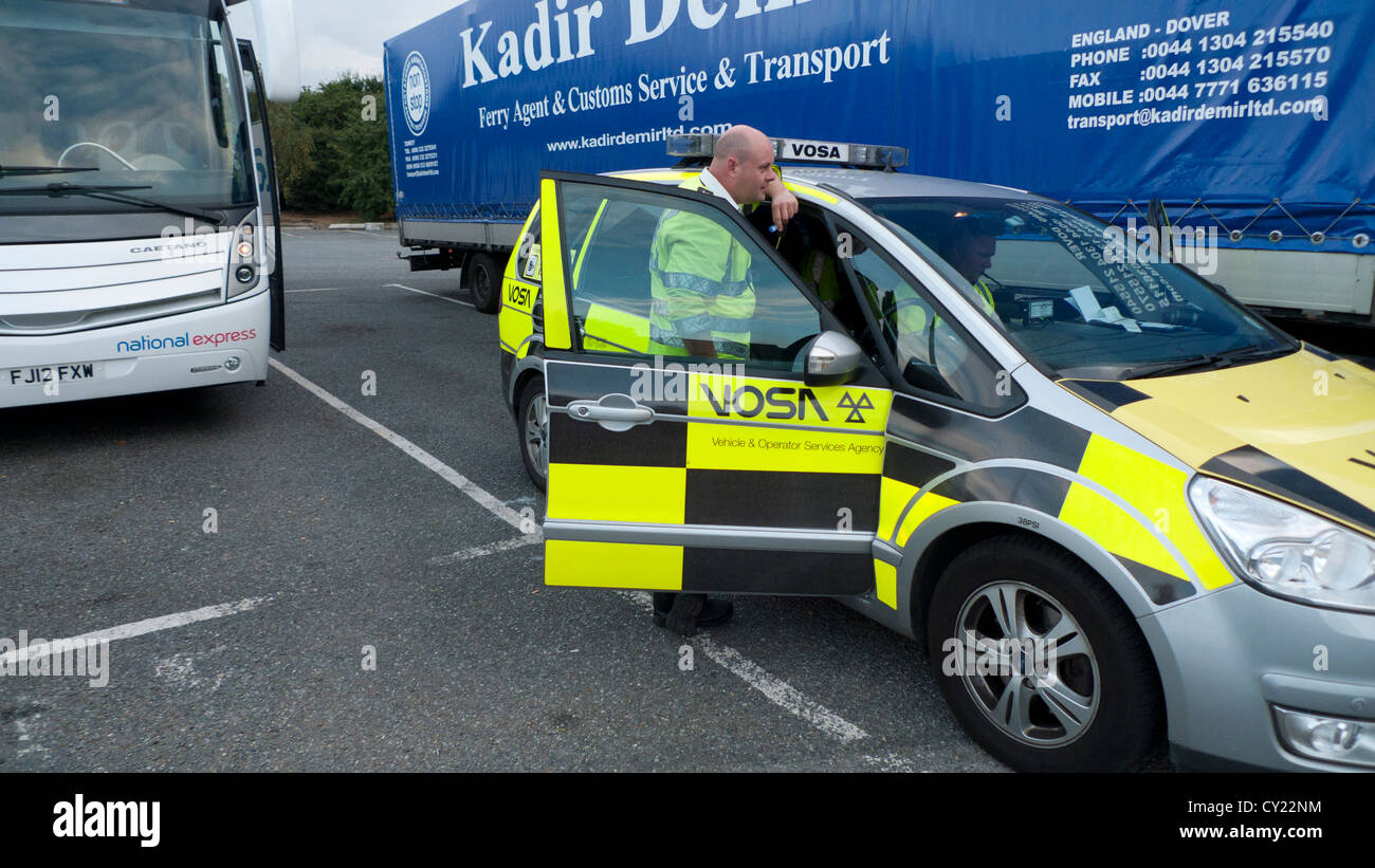 Officers Of The Vehicle Operator Services Agency Vosa Stopped In