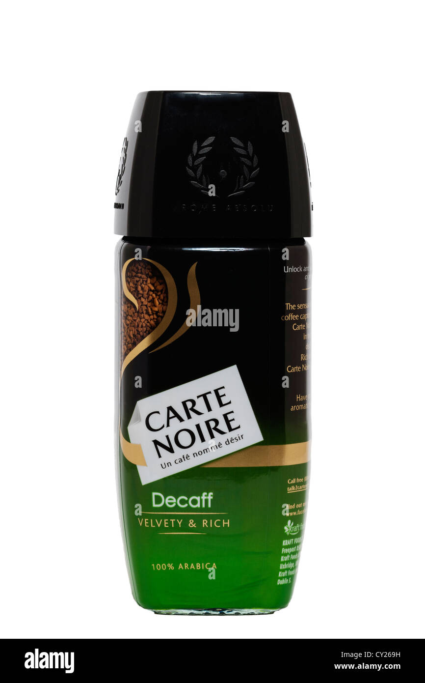 Bien connu A jar of Carte Noire decaff decaffinated instant coffee on a white  HH92
