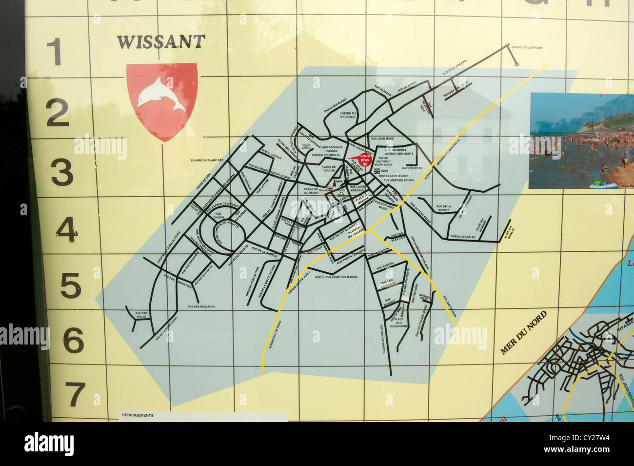 Street Map Plan Of Wissant France Europe Photo Royalty Free – Streetmap France