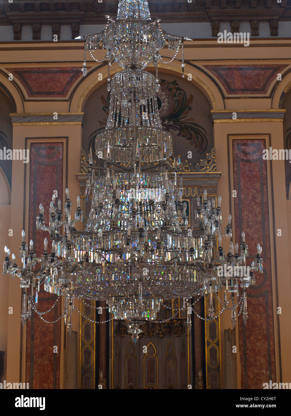 Dolmabache mosque has a large hanging crystal chandelier probably dolmabache mosque has a large hanging crystal chandelier probably bohemian or baccarat crystal like the palace next door aloadofball Image collections