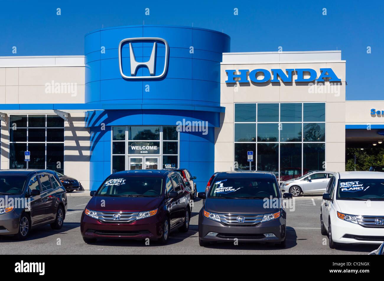 Honda Car Dealership, Winter Haven, Central Florida, USA