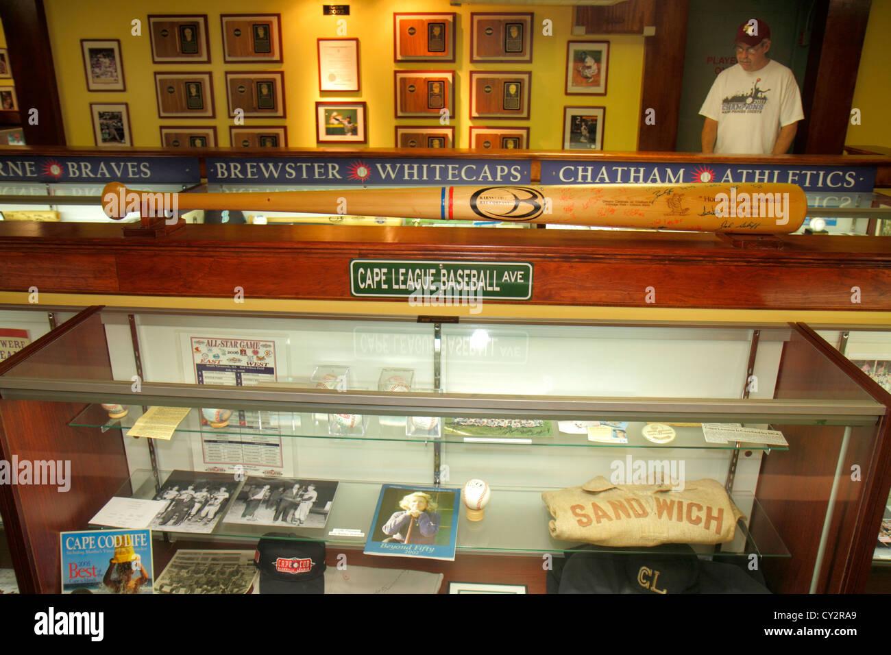 Massachusetts Cape Cod Hyannis Main Street Cape Cod Baseball League Hall Of  Fame And Museum Exhibit Memorabilia