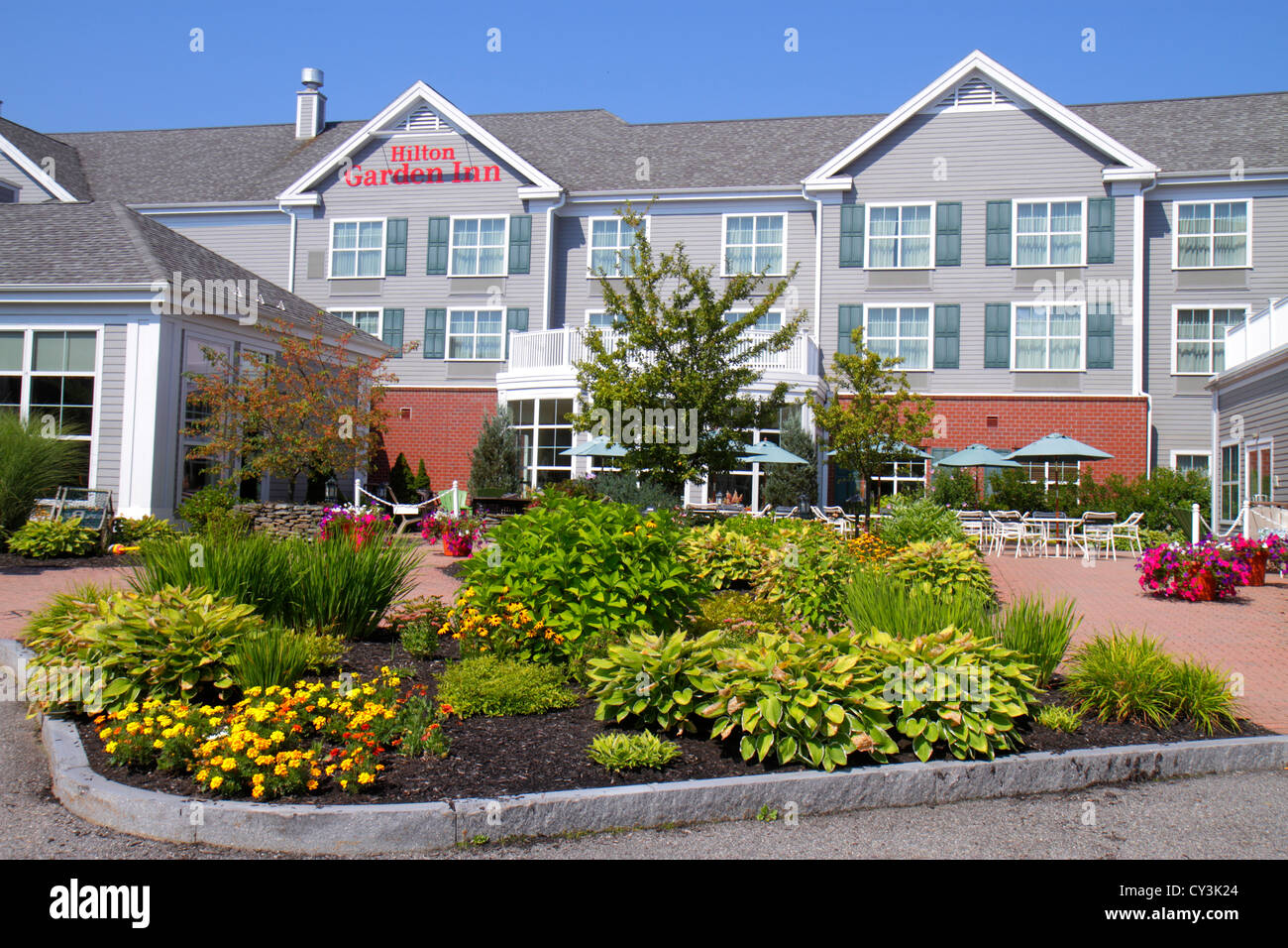 Maine Freeport Hilton Garden Inn Motel Hotel Front Outside