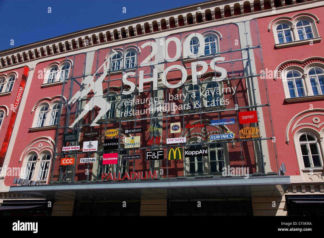 Palladium shopping centre or mall with 200 shops in prague czech stock photo royalty free - Centre commercial bron ...