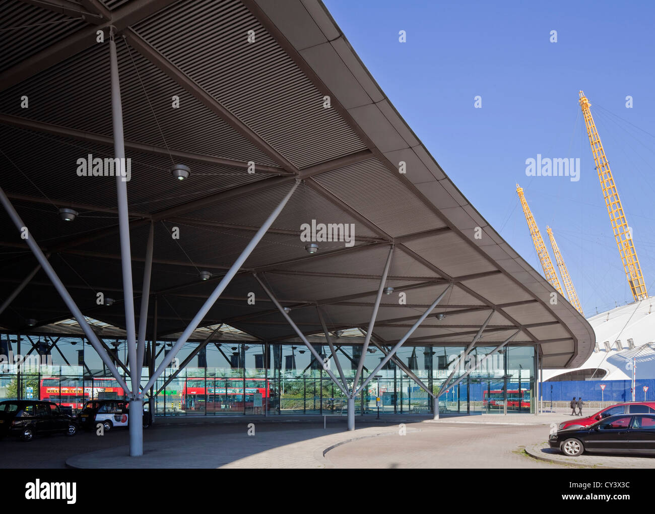 North Greenwich Transport Interchange London United Kingdom Architect Foster Partners 1999 Exterior View Of Roof Canopy