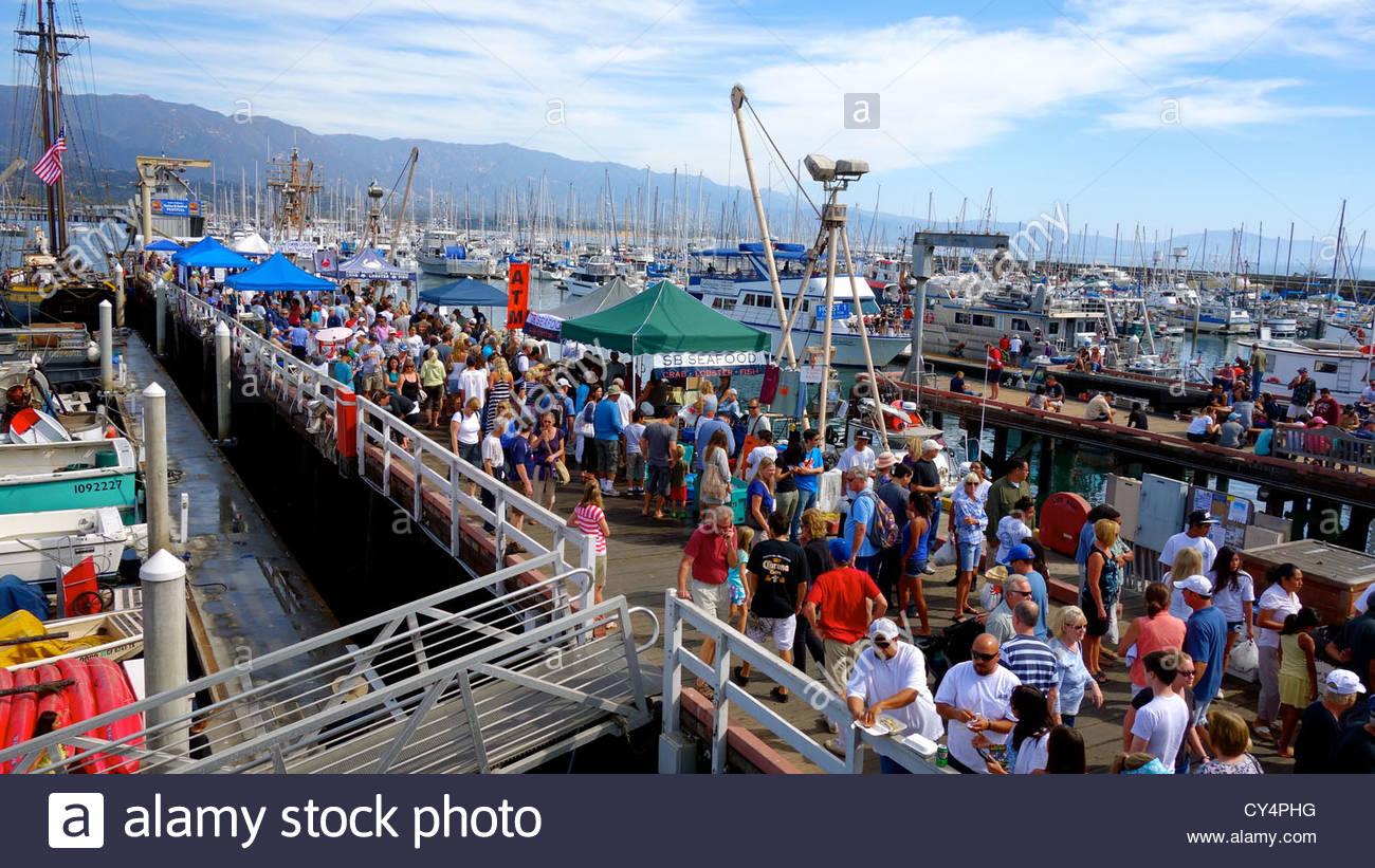 Santa Barbara Harbor And Seafood Festival Stock Photo