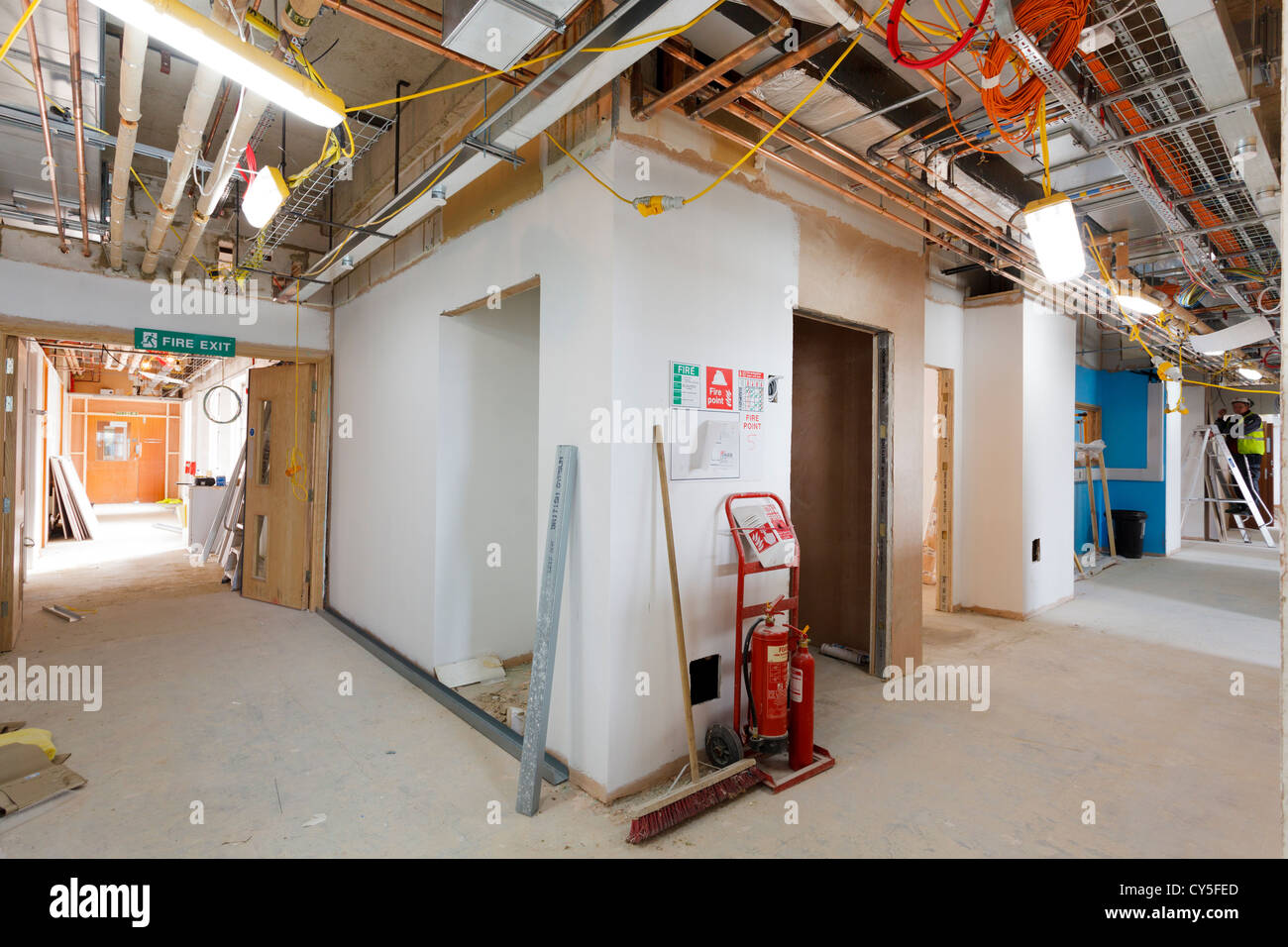 interior of a building under construction Stock Photo ...