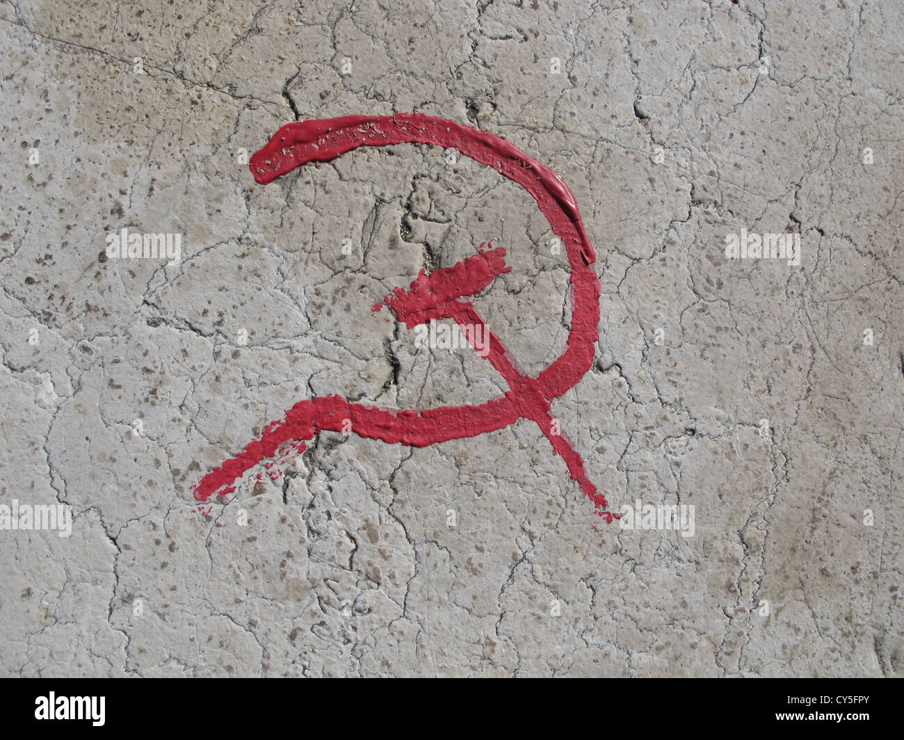 Hammer and sickle symbol painted on bridge in roma italy stock hammer and sickle symbol painted on bridge in roma italy biocorpaavc Gallery