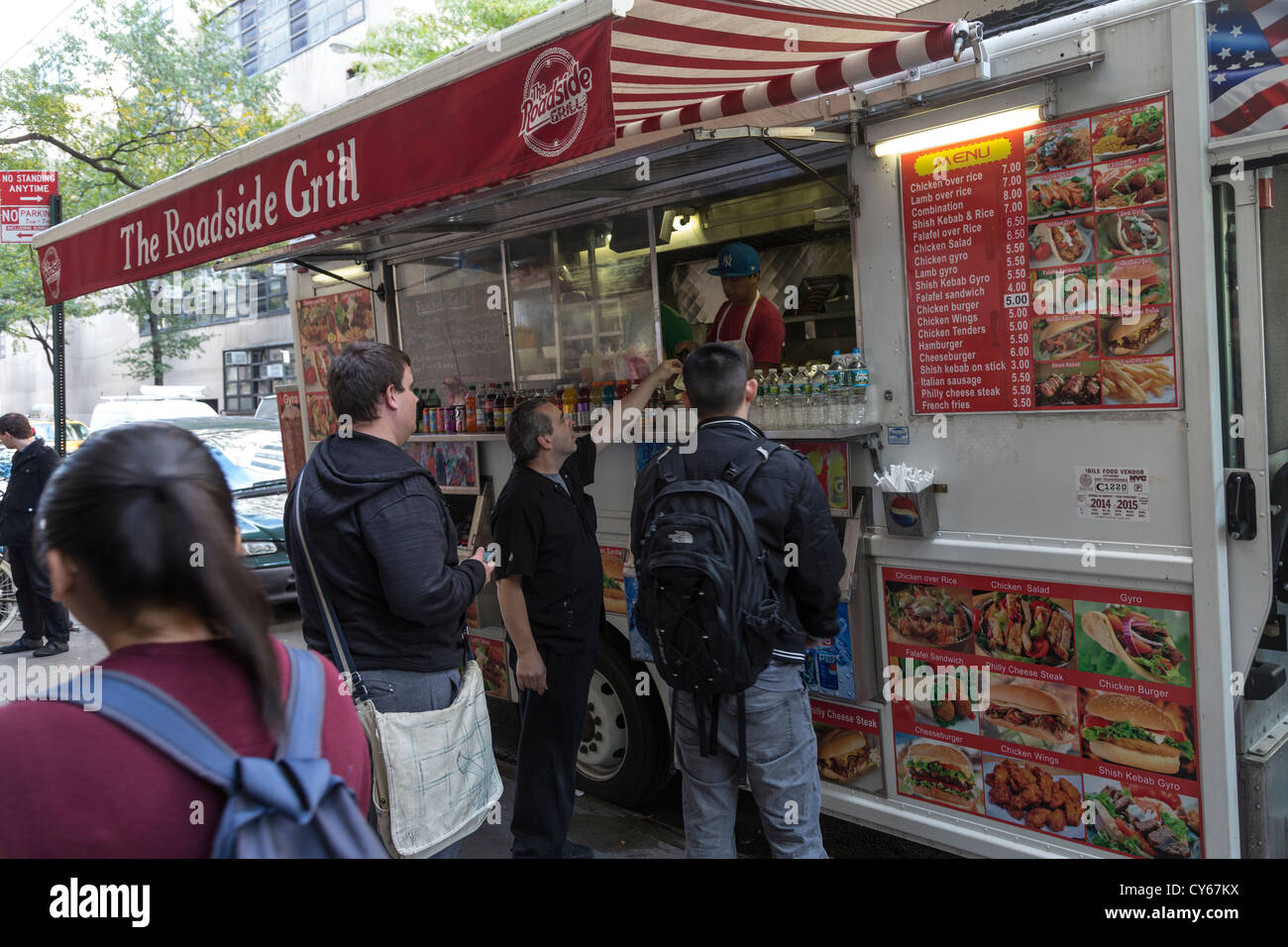 The Roadside Grill Mobile Food Truck Hunter College 68th Street And Lexington Avenue Manhattan New York City USA