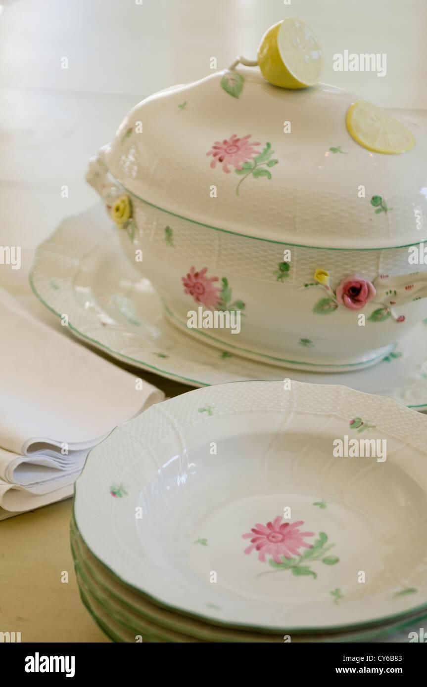 Patterned crockery & Patterned crockery Stock Photo Royalty Free Image: 51157011 - Alamy