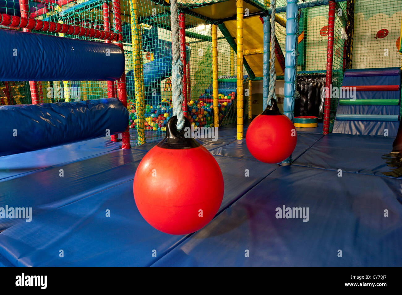 An Indoor Soft Play Center For Children In England Stock Photo