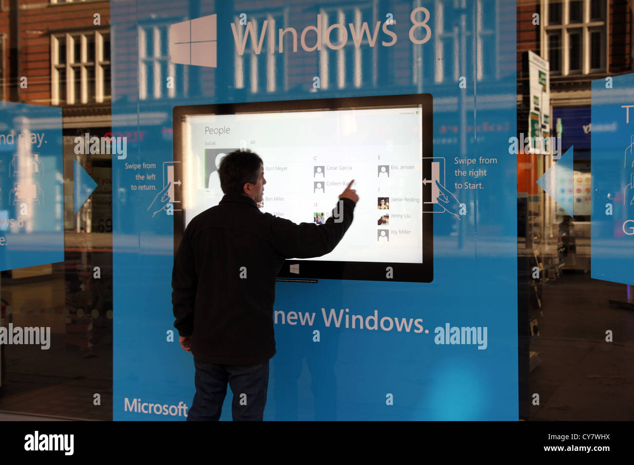 Windows 8 computer - Stock Photo Store Window Display For New Windows 8 Computer Software London