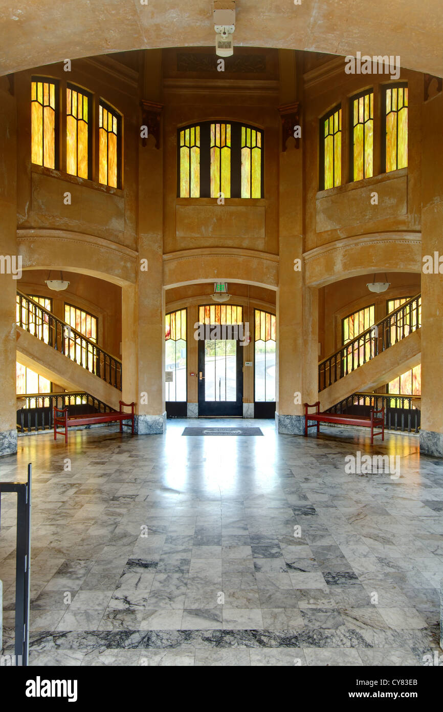 Interior of Vista House on Crown Point, Columbia River