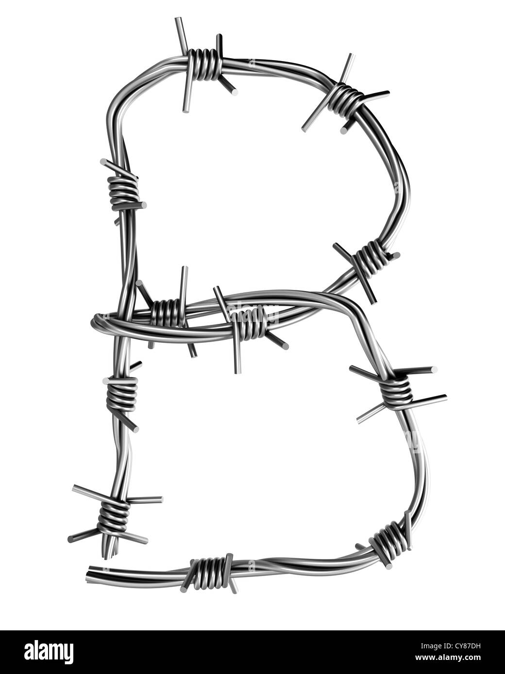 barbed wire diagram letter b made from barbed wire stock photo royalty image letter b made from barbed wire