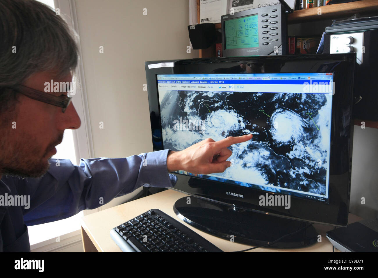 Meteorologist At Work Stock Photo Royalty Free Image