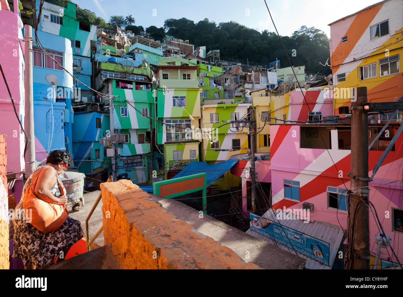 Brazilian Houses Rio De Janeiro Brazil Conflict Between Brazilian Army X Drug