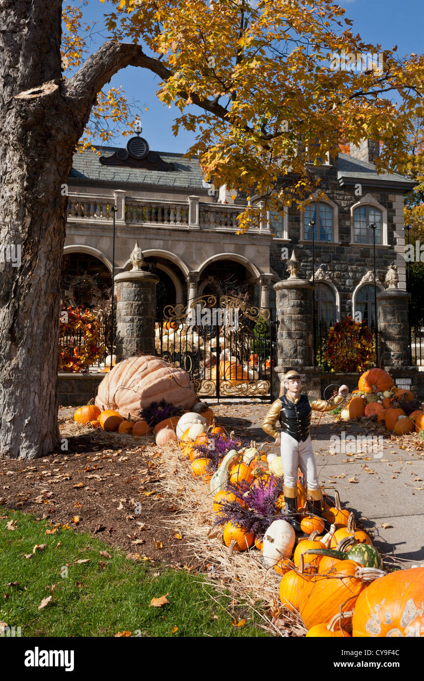 Halloween Decorated Mansion