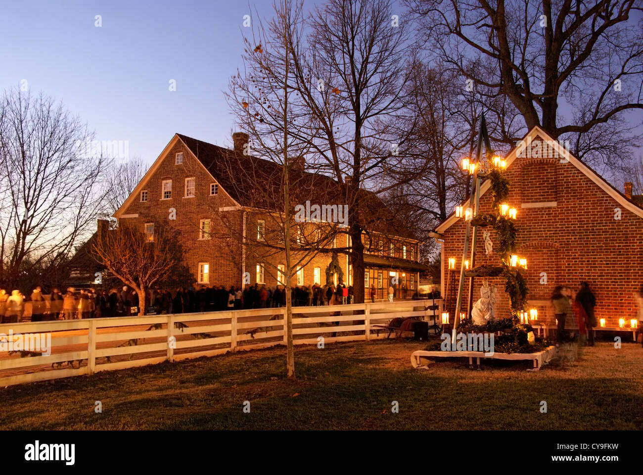 Traditional Moravian Christmas pyramid in Old Salem, North ...