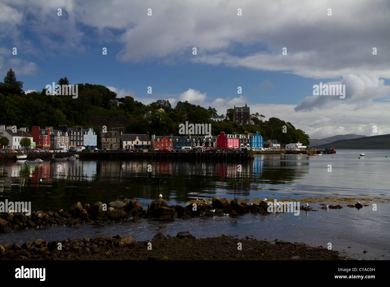 A View Across The Harbour Tobermory Isle Of Mull