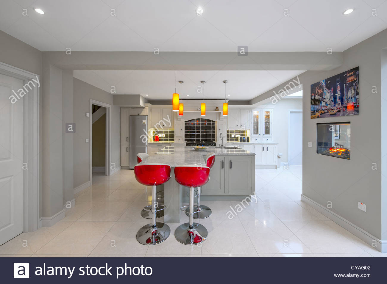 Modern Kitchen Dining Room Interior Spaces Stock Photo Royalty Free Image 51248514 Alamy