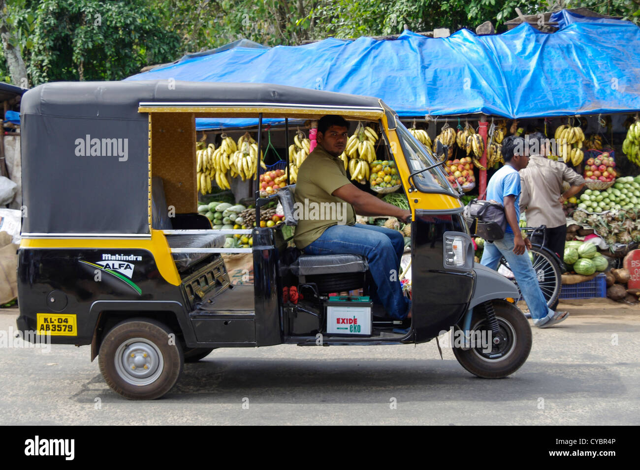 a tuk tuk taxi in kerala india stock photo royalty free image 51276086 alamy. Black Bedroom Furniture Sets. Home Design Ideas