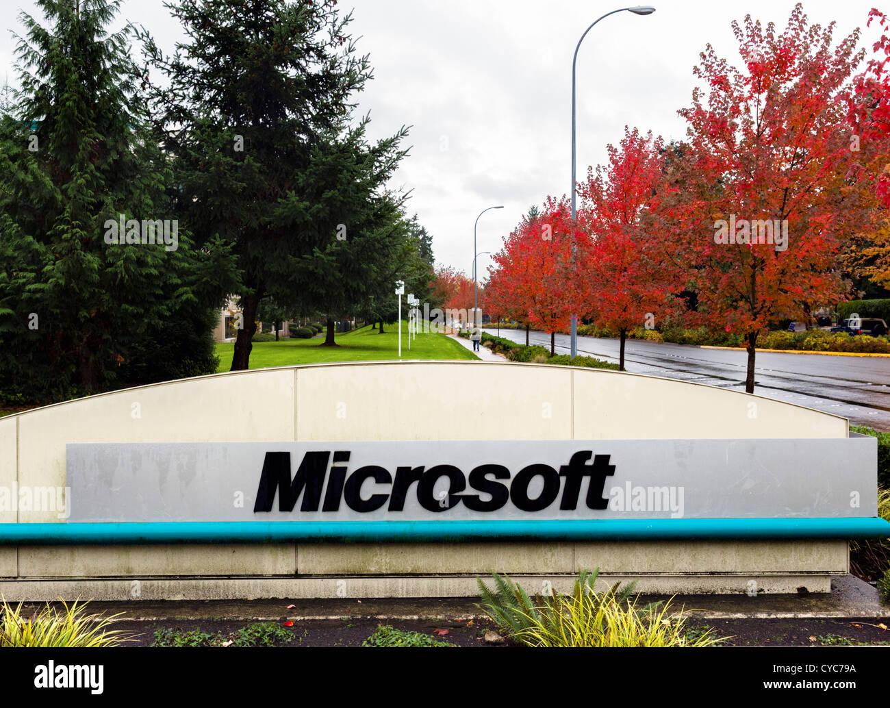 Microsoft Head Office Campus in Redmond Washington USA Stock