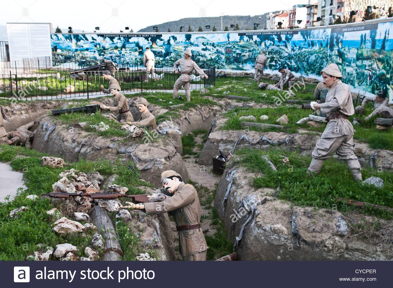 Turkish war memorial on the shores of Eceabat, Gallipoli ...