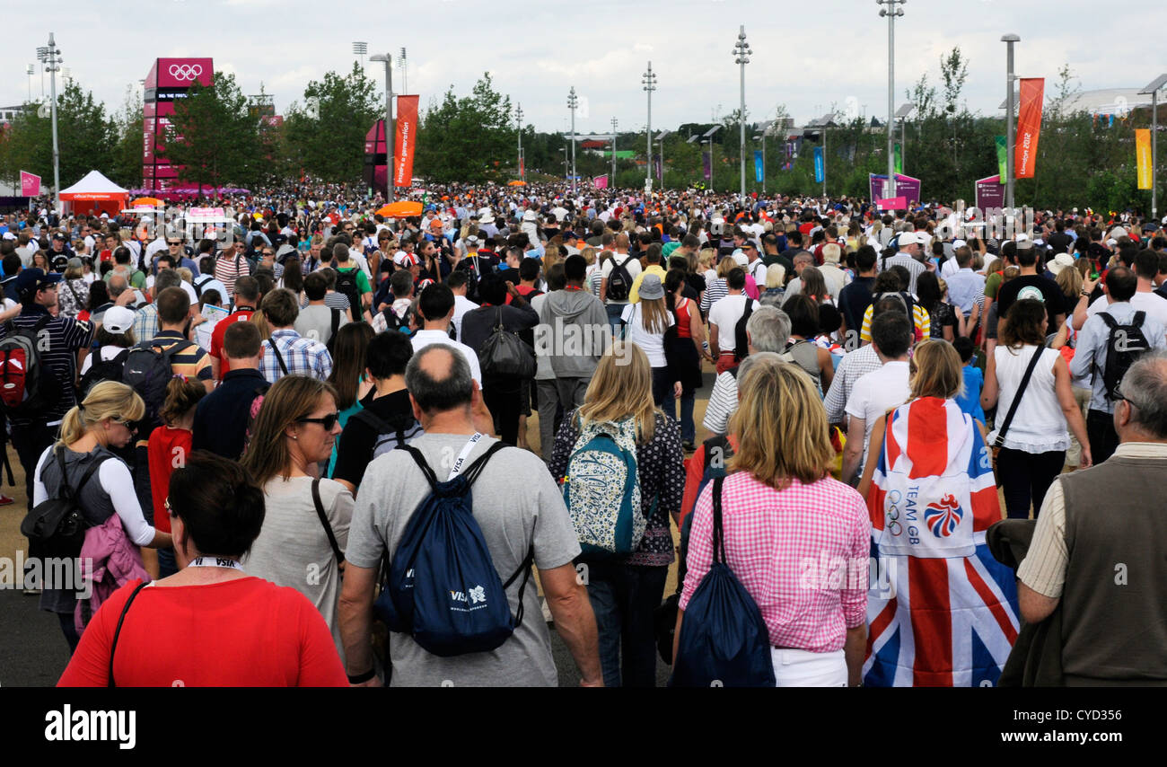 Vast Crowds Mingle At The Change Of Events In Olympic Park