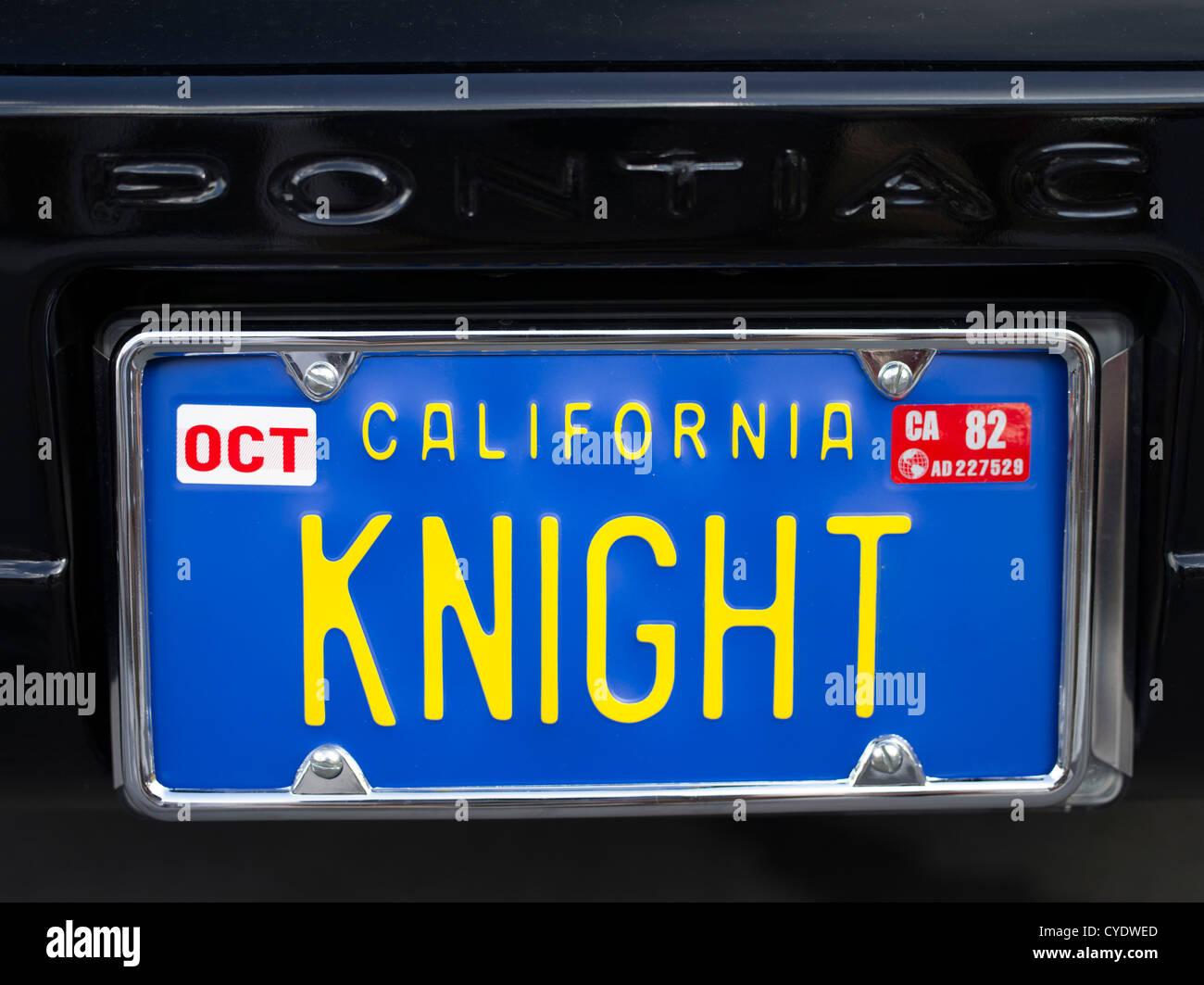 Knight Rider Tv Show Kitt Car License Plate Stock Photo