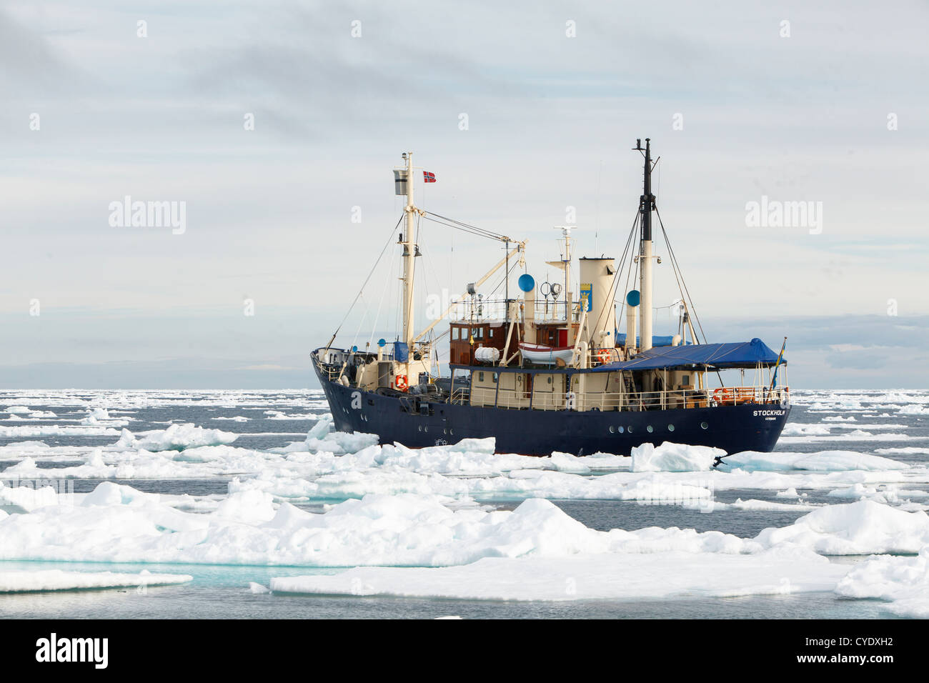 Ms Stockholm Expedition Ship Surrounded By Ice In Svalbard Island ...