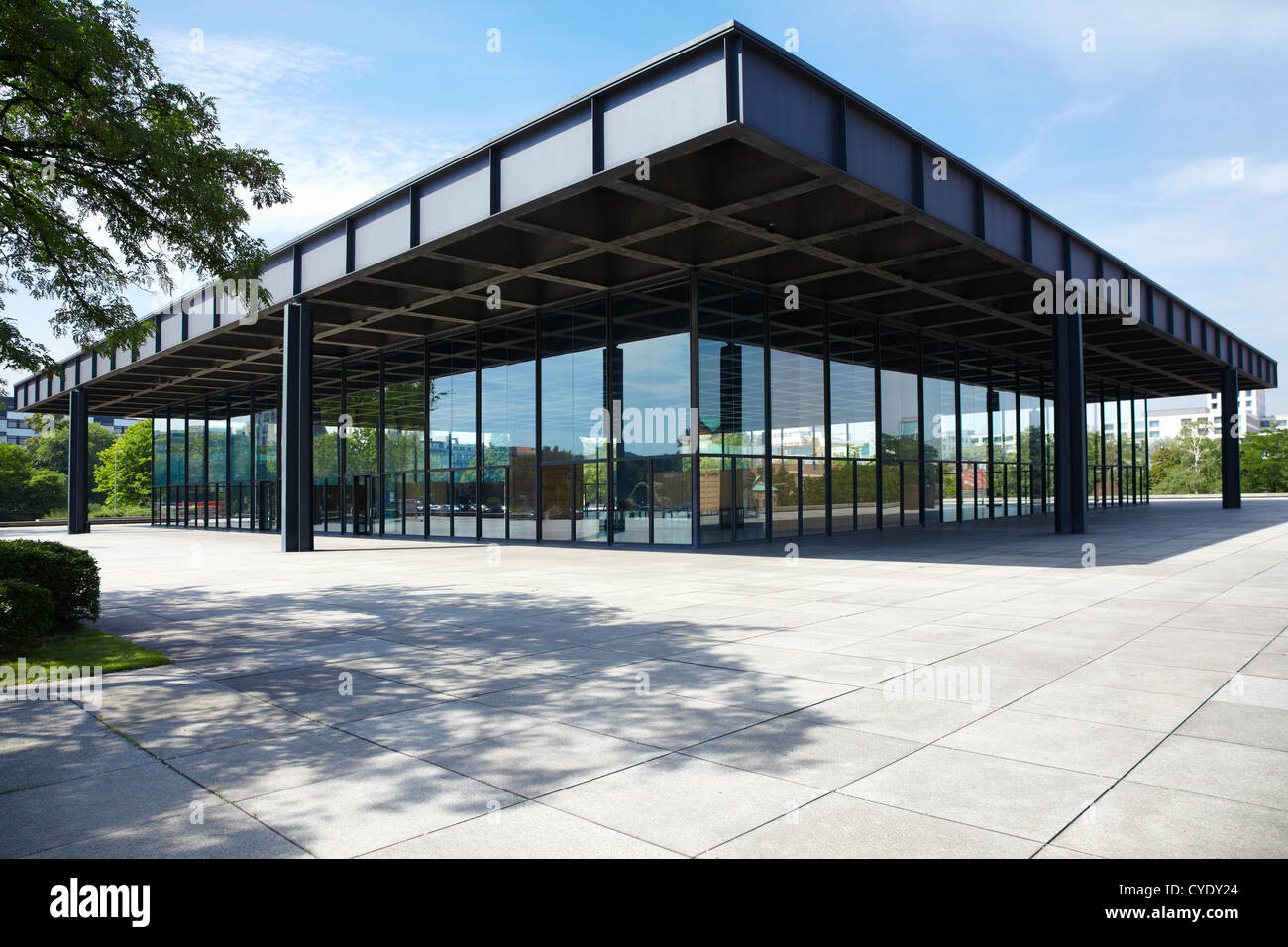 neue nationalgalerie new national gallery in berlin designed by stock photo royalty free image. Black Bedroom Furniture Sets. Home Design Ideas
