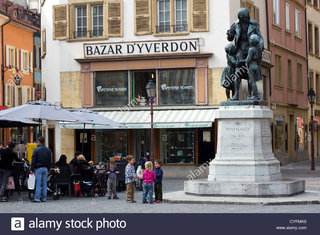Statue of pestalozzi in yverdon les bains switzerland for Location yverdon les bains suisse