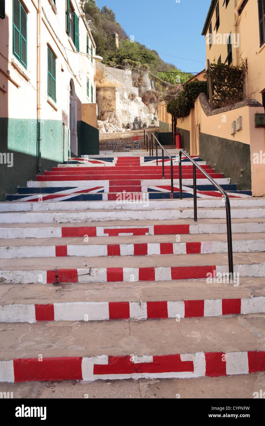 gibraltar and british flags stock photos u0026 gibraltar and british