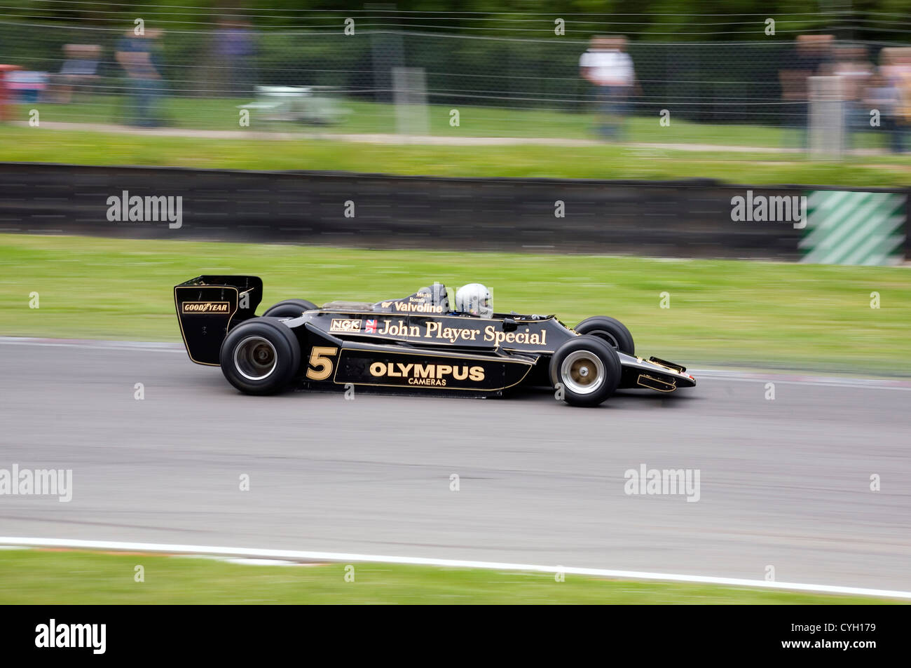 Type 79 Formula One Lotus racing car on a race track in Brands ...