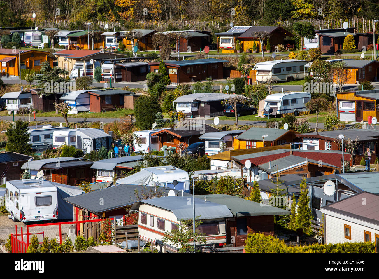 all year open trailer park in witerberg sauerland a north western stock photo royalty free. Black Bedroom Furniture Sets. Home Design Ideas