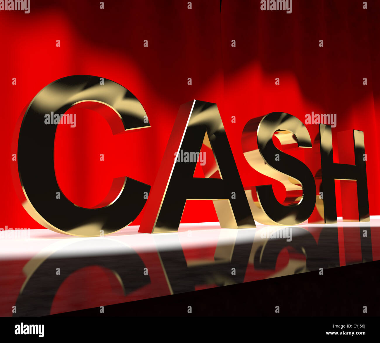 Cash on stage as symbol for currency and finance or acting careers cash on stage as symbol for currency and finance or acting careers buycottarizona