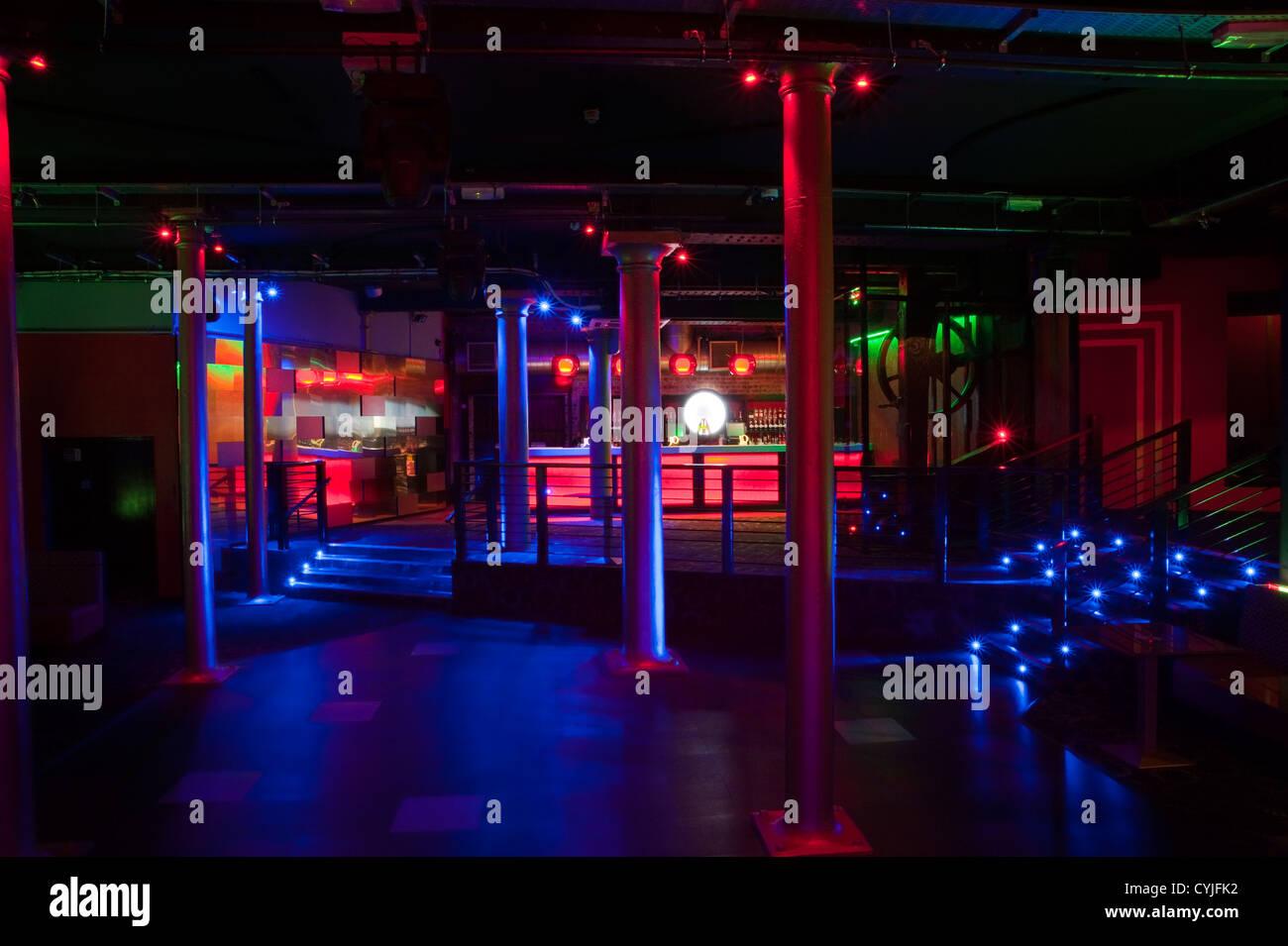 Night Club Dance Floor Interior Design Stock Photo