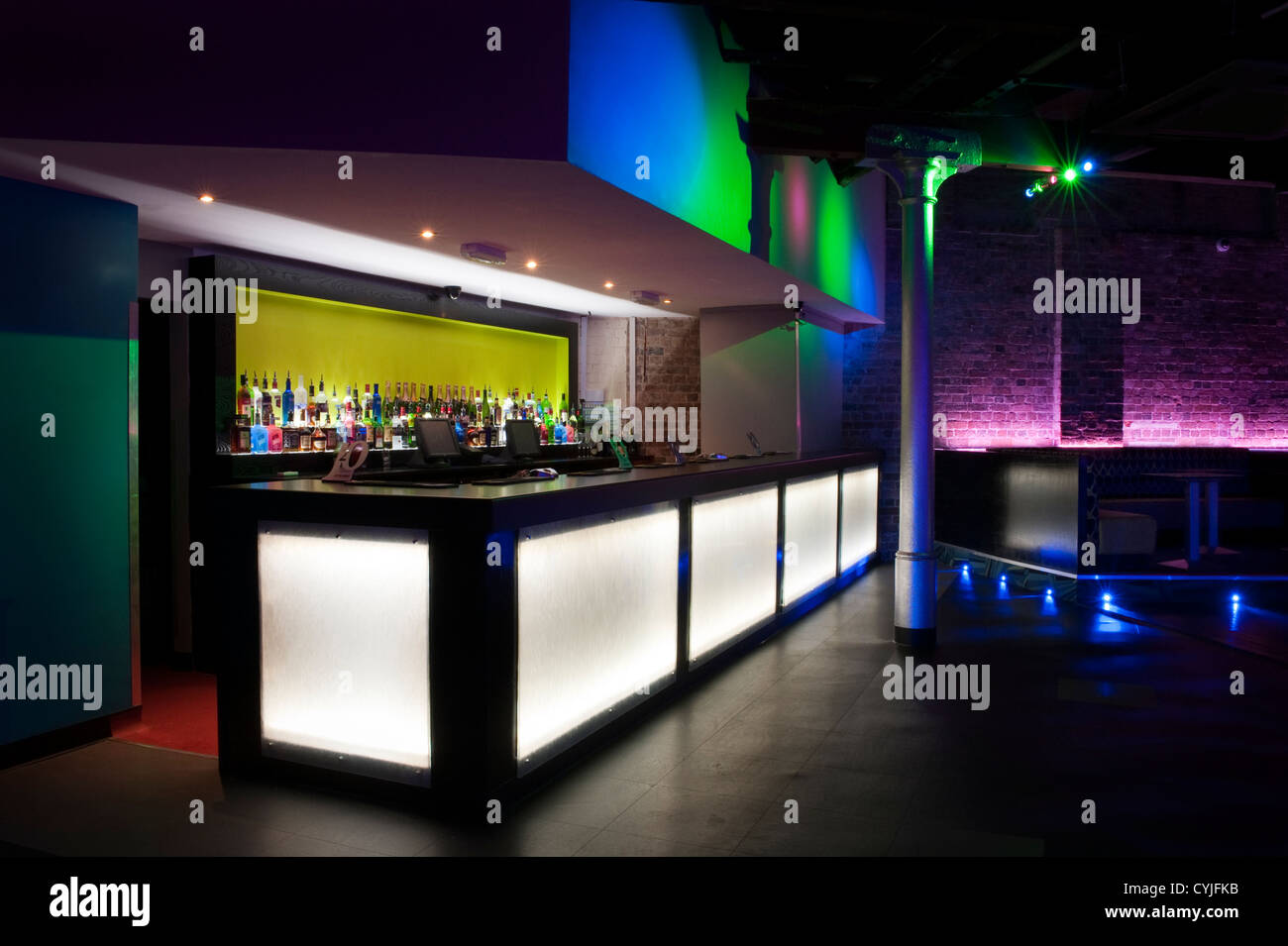 night club bar area interior design stock photo royalty