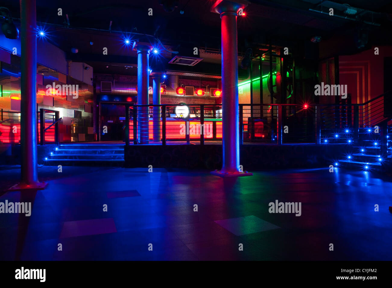 Design Your Own Home Entertainment Center Night Club Dance Floor Interior Design Stock Photo