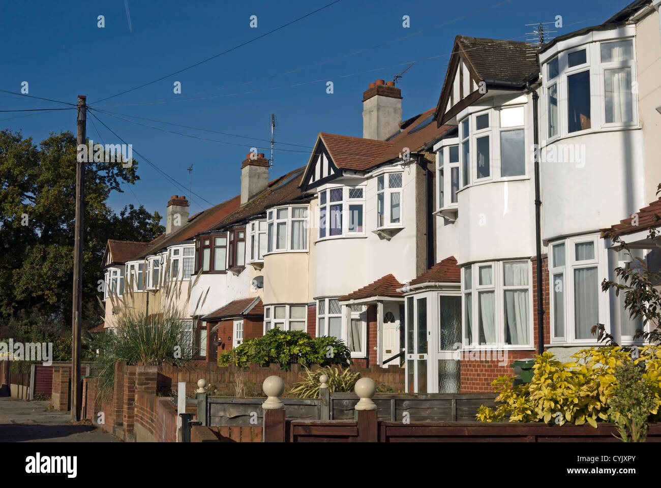 Houses With Bay Windows terrace of 1930s houses with bay windows, whitton, middlesex